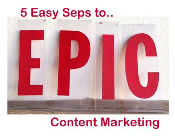 5 Easy Steps To EPIC Content Marketig Cover on Curatti