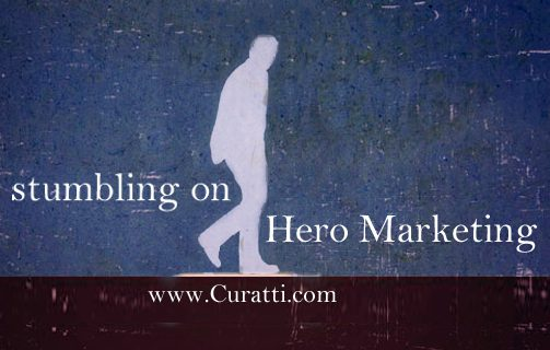 Stumbling On Hero Marketing hero on Cuatti