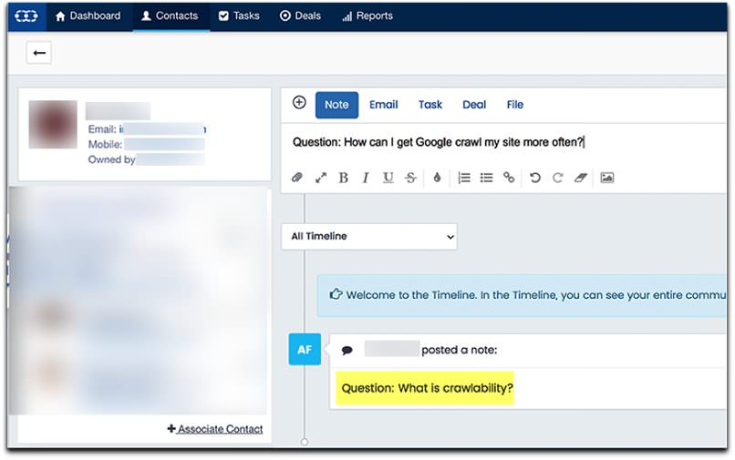 Salesmate for question research