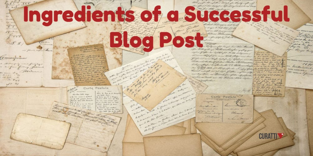 Ingredients of a Successful Blog Post