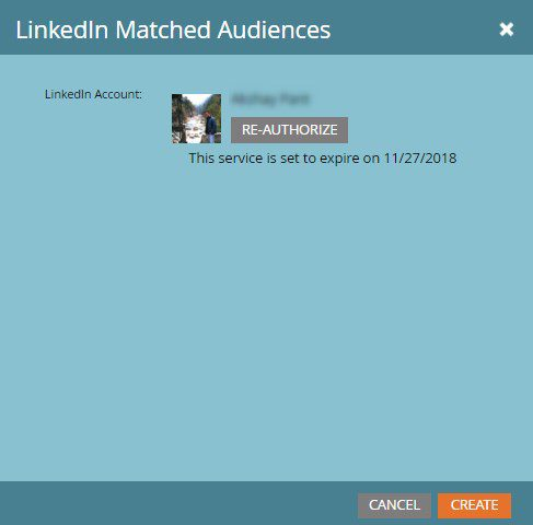 Add to Matched Audience