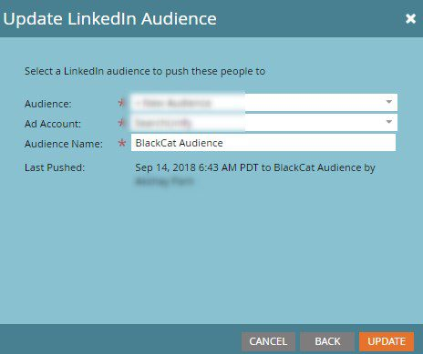 Add and Update Audience