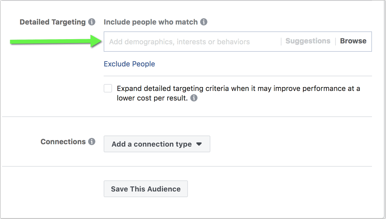 Facebook insights detailed targeting