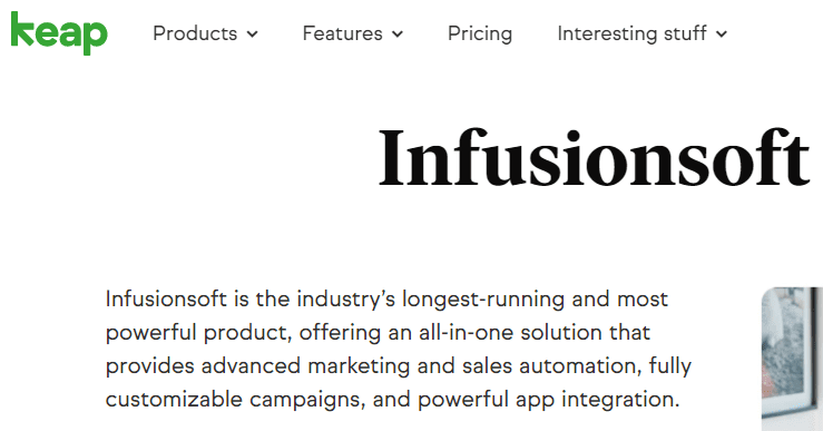 InfusionSoft Marketing Automation Software